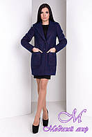 Демисезонное женское пальто (р. S, M, L) арт. Вейси крупное букле 9550