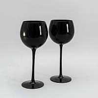 Комплект черных бокалов для красного вина 2 ед