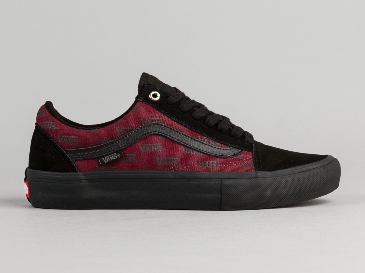Кеды Мужские Vans Old Skool PRO Black Bordo Бордовые Топ Реплика — в ... c71c6f152a323