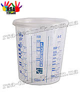 Мерный стакан 400мл Автоколор Size A для смешивания краски, лаков, грунтовок с крышкой
