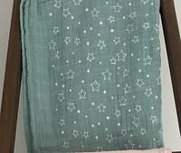 Плед-накидка 110x110  Barine Twinkle Star mint