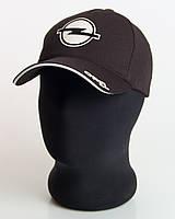 """Мужская бейсболка с автологотипом """"Opel"""" черного цвета (лакоста пятиклинка)."""