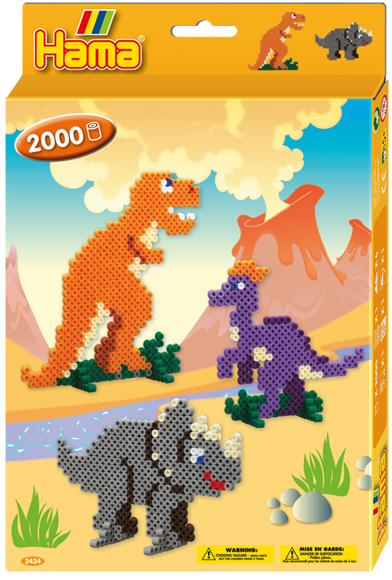 Термомозаика Hama - Набор Динозавры midi (3434)