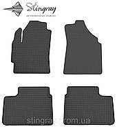 Комплект резиновых ковриков Stingray для автомобиля  Chevrolet Spark 2004-    4шт.