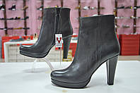 Женские итальянские элегантные ботильоны Jeiday на каблуке мраморного тёмно-серого цвета, фото 1
