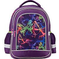 K17-509S-2 Рюкзак школьный 509 Neon butterfly