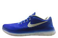Кроссовки мужские беговые Nike Free Run Flyknit V.1 Blue White (найк фри ран)