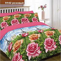 Постельное белье Вилюта ранфорс семейный 9142s роз