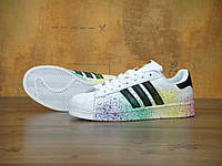 Женские кроссовки Adidas Superstar Rainbow Paint Splatte