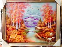 Картина в рамке 45*40см (Осень). Подарок к празднику код 56018