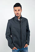 Куртка мужская осенняя на змейке 2250-2 (Темно-синий)