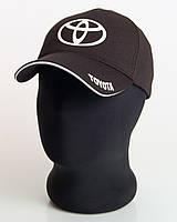 """Мужская бейсболка с автологотипом """"Toyota"""" черного цвета (лакоста пятиклинка)."""