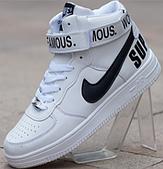 Кроссовки Nike air force высокие белые мужские