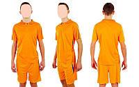 Футбольная форма подростковая New game CO-4807-OR (PL, р-р M-XL, оранжевый, шорты оранжевые)
