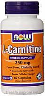 Жиросжигатели, L-карнитин,L-Carnitine 250mg (60 капсул)
