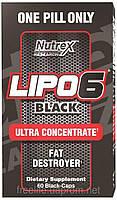 Жиросжигатели,Lipo-6 Black Ultra concentrate (60 капсул)