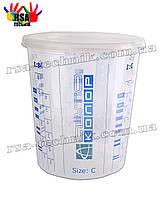 Мерный стакан 1100 мл Автоколор Size С для смешивания краски, лаков, грунтовок  с крышкой