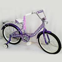 Детский двухколесный велосипед Stels Echo,20 дюймов, сиреневый