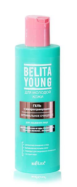 """Гель з мікрогранулами для вмивання обличчя """"Оптимальне очищення"""" Belita Young 200 мл"""
