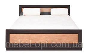 Кровать большая двухспальная Клео 2 сп (SM), дуб сонома/белый глянец, мебель для спальни 1685*705*21