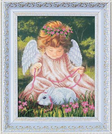 """Набор для вышивания бисером """"Ангел с кроликом"""", фото 2"""