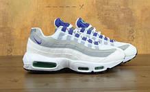 Мужские кроссовки Nike Air Max 95 White/Grey/Violet топ реплика, фото 2