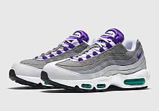 Мужские кроссовки Nike Air Max 95 White/Grey/Violet топ реплика, фото 3