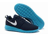 Кроссовки мужские Nike Roshe Run синие найк рош ран Вьетнам качество 2017