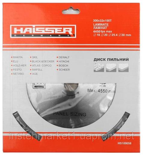 """Диск пильный Haisser 300х32 100 зуб по ламинату (отрицательный зуб) в интернет-магазине """"Инстехмаркет"""""""