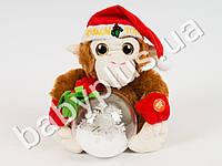 Мягкая игрушка Обезьяна с Новогодним шаром