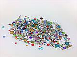 Стразы стеклянные MIX (разные цвета и размер), 800-850 шт. в пакетике (аналог Swarovski) , фото 3