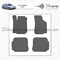 Комплект резиновых ковриков Stingray для автомобиля  VOLKSWAGEN Bora 1997-    4шт.