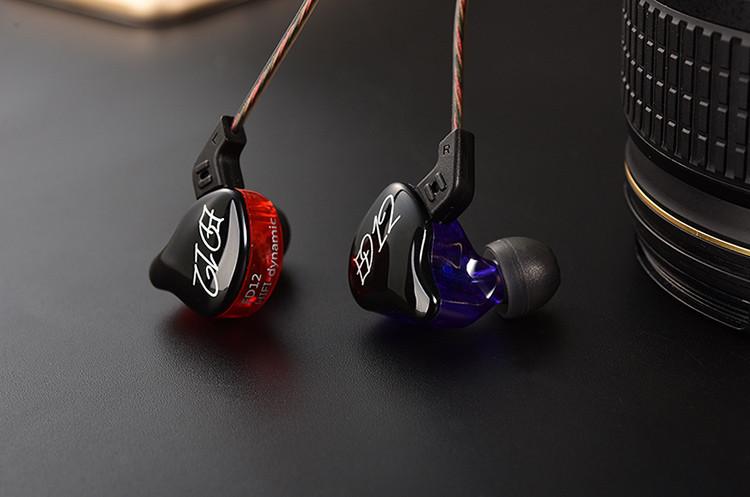 Дротові HiFi навушники з мікрофоном KZ ED12 (Knowledge Zenith) анатомічної форми зі знімним кабелем