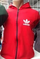 Батник Adidas на молнии ТЕМНО СИНЯЯ, ЧЕРНАЯ, СЕРАЯ