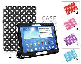 """Откидной чехол для Samsung Galaxy Tab 3 10.1 P5200 с рисунком """"Горошек"""""""