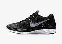 Кроссовки мужские Nike Flyknit Lunar 3 Oreo (найк) серые