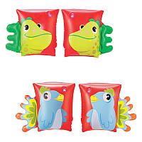 BW Детские надувные нарукавники 32115, 23-15см, 2 вида (попугай, дракон)