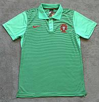 Поло футболка Португалия зеленая