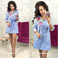 Платье - рубашка / хлопок / Украина
