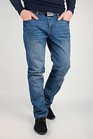 Джинсы прямые синие потертые, мужские №226KF016 (Синий)