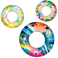 BW Детский надувной круг 36014, 3 вида, 61см, 3-6лет, в кульке, 27-14,5см