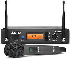 Радиосистема c ручным конденсаторным вокальным микрофоном ALTO PROFESSIONAL RADIUS100