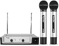 Радиосистема VHF, 2 ручных микрофона SUPERLUX VT96DD (182.1/199.6MHz)