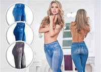 Утягивающие джинсы джеггинсы  (синие) Slim 'n Lift Jeans 40-48