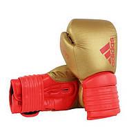 Боксерские перчатки ADIDAS Hybrid 300 (золотой/красный)