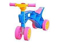 Каталка Ролоцикл четырехколесный, с пищалкой на руле + (Арт. MTH-KATAROLOTSIKL4)