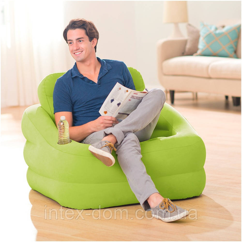 68586 Intex Кресло надувное 107х97х71см
