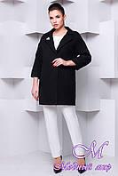 Женское черное кашемировое пальто (р. S, M, L) арт. Кларенс - 9794