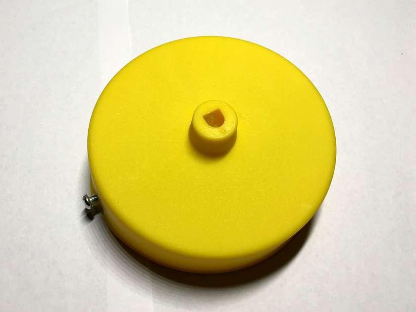 AMP основание круг 100 мм. пластик (yellow )