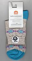 Носки женские демисезонные лён Мисюренко, 11В210КЛ, средние, 23 размер. 1671